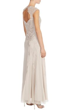 Floral mesh maxi dress -Karen Millen -gorgeous back £595