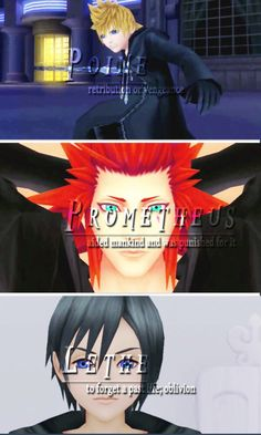 Kingdom Hearts Greek God Comparison | Roxas, Axel, and Xion | Kingdom Hearts 358/2 Days