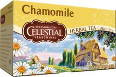 Chamomile tea - Cure for: Heartburn!   Chamomile can ease digestive inflammation, spasms, and gas. Steep 2 teaspoons of the herb in 10 ounces of very hot water for 20 minutes, covering the cup to keep the essential oils in the water. You may have to drink the tea a few times a day for complete relief.