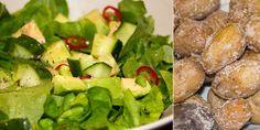Salzkartoffeln mit Salat