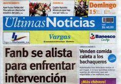Últimas Noticias Vargas  domingo 15 de mayo de  2016