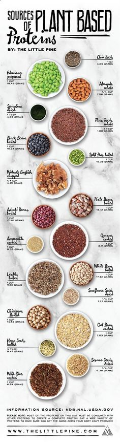 If you are a vegan, you can totally get all your protein needs met by eating a whole food plant-based diet. Many vegan athletes have proved this point, but you need to be smart about where to find out. Thats why this vegan, plant-based protein chart is really helpful.http://bit.ly/29YJlch