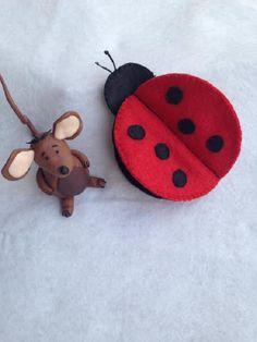 Felt Ladybird Ladybug Sewing Needle Case by FatBrownMouseDesigns