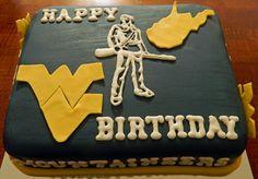 WVU Birthday Cake What a cool cake :-)