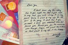 Letter to self. Lovely.