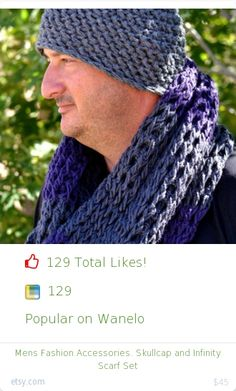 Top christmas gift on Wanelo.  129 people likes on Internet. 129 wanelo saves. mens fashion accessories skullcap and infinity scarf set from etsy christmas gifts. http://www.MostLikedGifts.com/top-popular-christmas-gifts/etsy-christmas-gift-5489ad2be294f2098067874f-mens-fashion-accessories-skullcap-and-infinity-scarf-set