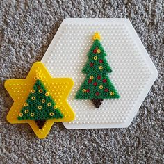 Christmas trees hama beads by tr.heim