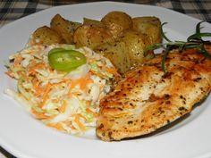 Karcsi főzdéje: Rostonsült csirkemell fűszeres sült krumplival