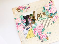 LOVE me some Maggie Holmes florals! 💐Process video up on my channel - link in my bio! Scrapbook Pages, Scrapbooking Ideas, Scrapbook Layouts, Paper Crafts, Diy Crafts, Heidi Swapp, Baby Memories, Crate Paper, Planner Organization