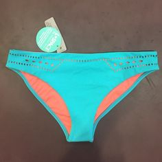 brand new l*space full cut bikini bottoms new with tags!! never worn! love them but they are too big for me!! authentic. no trades. (these are not reversible, they just have a pink lining and pink cutouts. l*space Swim Bikinis