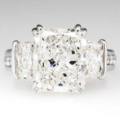 GIA Certified 4 Carat Radiant Diamond Engagement Ring