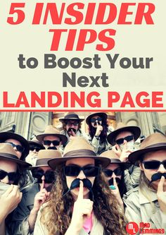 5 Insider Tips To Boost Your Next Landing Page #marketing #smallbiz via @madlemmings