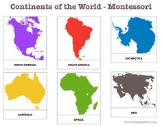 At the end of the semester, Lennox was learning about the Continents of the World. At school they have cards for matching to learn which continent is which. I decided to remake these at home for Le...