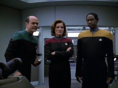 The Doctor, Captain Janeway and Tuvok