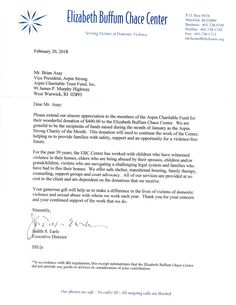 Thank You Letter From The Leukemia  Lymphoma Society For Our