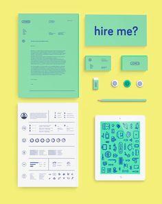 Personal branding & resume by Jonas Nullens, via Behance