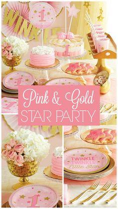 Gold & Pink Twinkle Twinkle Little Star Party