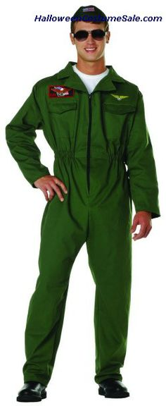 Top Gun Adult Costume, Plus Size - Includes jumpsuit and cap. Also available in Adult Size: Buy this costume Now! Couples Costumes Adult, Unique Couple Halloween Costumes, Clever Costumes, Costumes For Teens, Pirate Costumes, Halloween Party, Top Gun Costume, Apple Costume, Patriotic Costumes