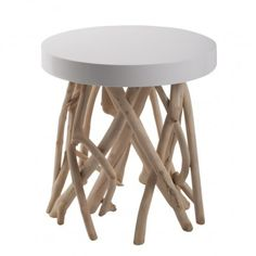 CUMI GLOSSY WHITE SIDE TABLE
