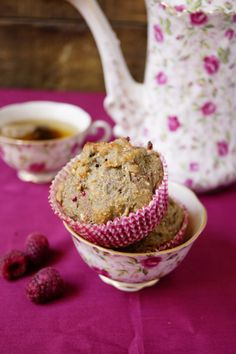 Healthy Breakfast - Whole Wheat Raspberry Muffins