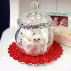 Fondant Snowfmen   Dollhouse Miniature Food by DollhouseKitchen, $20.00