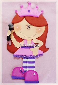 *Arte Colorida* Artesanato em EVA e Feltro: Princesa em EVA com molde http://artecoloridacrisroucas.blogspot.com.br/