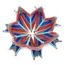 Eileen Montgomery Fortuneteller Bangle, Contemporary Geometric Beadwork 2012