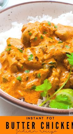 Instant Pot Butter Chicken Curry Recipe -Authentic Indian Curry Recipe made completely in the insta pot! - Delicious ,Easy Butter Chicken Recipe which is Creamy,Rich and mildly spicy. - This Indian Cu Rice Recipes For Dinner, Instant Pot Dinner Recipes, Side Dish Recipes, One Pot Recipes, Chicken Breast Instant Pot Recipes, Fish Recipes, Butter Chicken Rezept, Butter Chicken Curry, Easy Butter Chicken Recipe