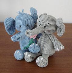 Elefante amigurumi con patrones en inglés