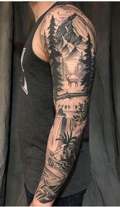 Top 50 Best Shoulder Tattoos For Men Next Luxury. 46 Excellent Shoulder Tattoo Design Ideas For Men You Can Do. 46 Excellent Shoulder Tattoo Design Ideas For Men You Can Do. Forarm Tattoos, Forearm Sleeve Tattoos, Best Sleeve Tattoos, Sleeve Tattoos For Women, Body Art Tattoos, Hand Tattoos, Nature Tattoo Sleeve Women, Tattoo Nature, Full Sleeve Tattoo Design
