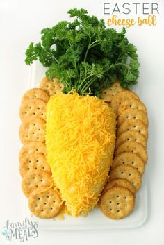 27 Yummy Easter Dinner Ideas to Wow Your Guests - Cute Carrot Shaped Easter Che. 27 Yummy Easter Dinner Ideas to Wow Your Guests - Cute Carrot Shaped Easter Cheese Ball Cute Carrot Shaped Easter Che Easter Snacks, Easter Appetizers, Easter Dinner Recipes, Easter Brunch, Easter Party, Easter Treats, Appetizers For Party, Appetizer Recipes, Easter Food