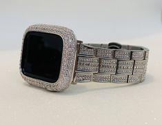 Custom Apple Watch Bands, Iphone Watch, Iphone Case, Apple Watch Fashion, Gold Apple Watch, Apple Watch Accessories, Lab Diamonds, Gold Bands, Fashion Watches