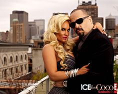Ice T and Coco At The Movement Detroit Electronic Music Festival In Hart Plaza, 2012.