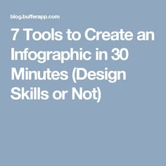 7 Tools to Create an Infographic in 30 Minutes (Design Skills or Not)