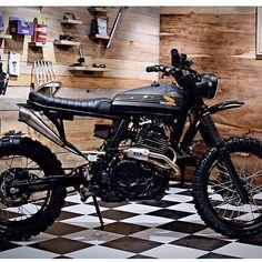 Gorgeous Honda #NX650 by @soytuchef. #tracker #scrambler #streettracker #dualsport #dirtbike #moto #bratstyle #caferacer #caferacersofinstagram #kustom #thumpers #advrider #dominator #bigsingle #croig #motolove #motoporn #caferacerporn #caferacers