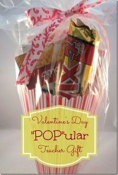 """POP"" ular Teacher Valentine Gift #teacher #gift #Valentinegift"