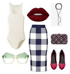 Bite me. by moarbaje on Polyvore featuring polyvore fashion style Uniqlo Whistles Yves Saint Laurent Rodo Christian Dior Lime Crime clothing