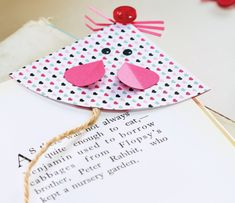 Could use little jingle bells for the nose. Papercraft Mouse Bookmark - Free Craft Project – Papercraft - Crafts Beautiful Magazine