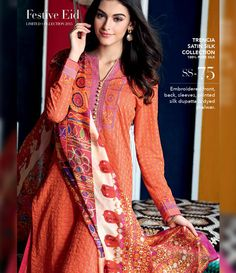 Gul Ahmed Trencia Satin Silk Festive Collection 2015 SS-75