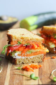 The Ultimate Garden Vegetable Sandwich with Herbed Goat Cheese