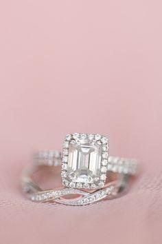 Princess cut diamond ring never looked so pretty.