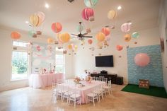 Carried Away Hot Air Balloon Birthday Party via Kara's Party Ideas KarasPartyIdeas.com #hotairballoonparty (30)