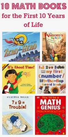 10 Math Books for the First 10 Years of Life