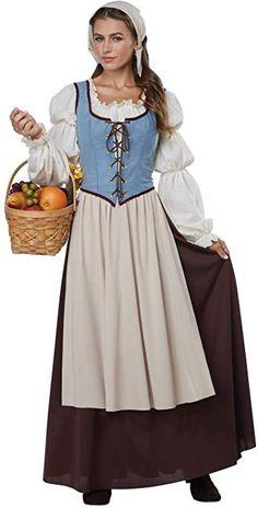 Medieval//Re-enactment//Ladies NATURAL CALICO KIRTLE /& HEADDRESS All Sizes//Plus