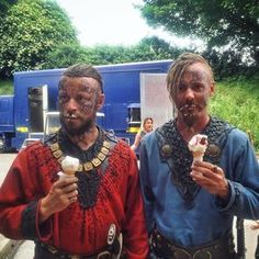 "Peter Franzen and Jasper Pääkkönen on Instagram: ""Viking beards and ice cream..."""