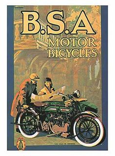 Vintage Motorcycles Classic B. Motorcycles art print or poster Bsa Motorcycle, Motorcycle Posters, Motorcycle Garage, Vintage Advertisements, Vintage Ads, Vintage Posters, Antique Motorcycles, Indian Motorcycles, British Motorcycles