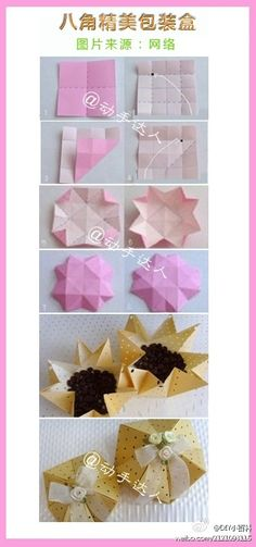 Origami Octagon Box Folding Instructions