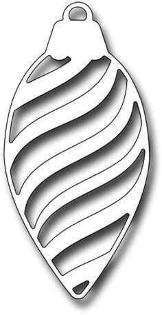Frantic Stamper Dies - Striped Pinecone Ornament