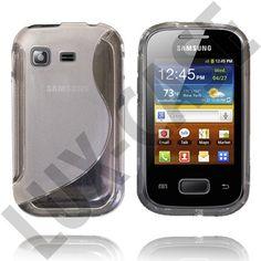 Transparent S-Line (Grå) Samsung Galaxy Pocket Skydd