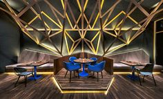 Completed in 2017 in Beijing, China. Images by Edward Hendricks. VUE Hotel's first flagship property is located in Beijing, in the Hutong district of Houhai. The hotel compound sits on the edge of the picturesque. Luxury Restaurant, Restaurant Interior Design, Best Interior Design, Design Hotel, Restaurant Lighting, Deco Tv, Beijing Hotels, Peking, Futuristic Interior